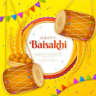 Gradient baisakhi illustration