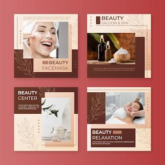 Gradient beauty instagram post sammlung