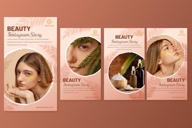 Gradient beauty instagram story pack