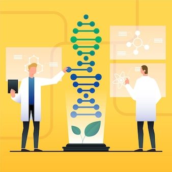 Gradient biotechnologie konzept illustration