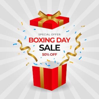 Gradient box day sale illustration