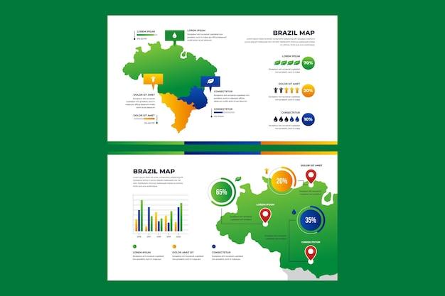Gradient brasilien karte infografik