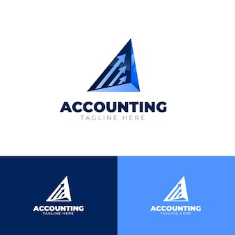 Gradient business accounting logo vorlage