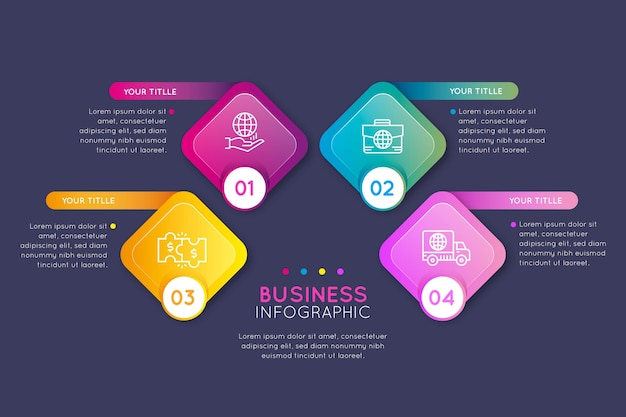 Gradient business infografiken konzept