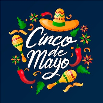 Gradient cinco de mayo illustration