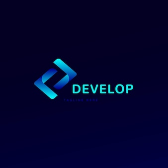 Gradient code logo slogan hier