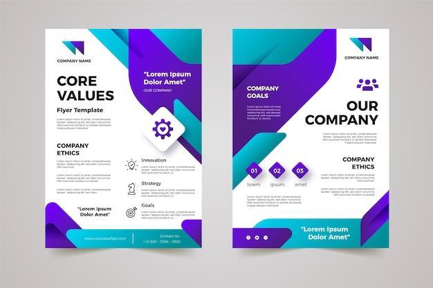 Gradient core values flyer pack