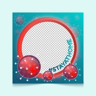 Gradient coronavirus facebook frame