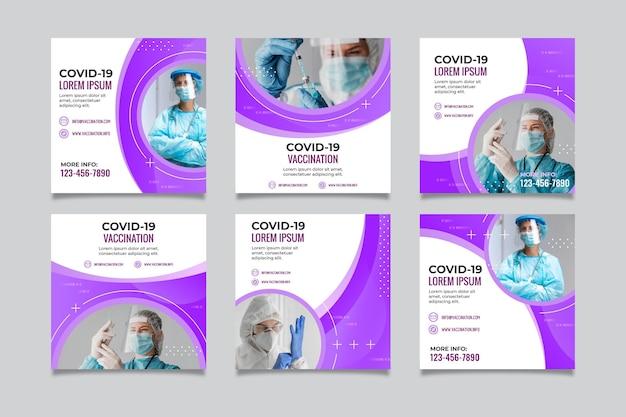 Gradient coronavirus instagram post sammlung