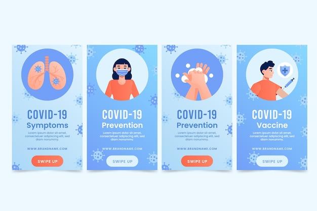 Gradient coronavirus instagram story sammlung
