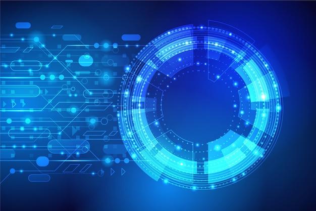 Gradient cyber futuristischer hintergrund