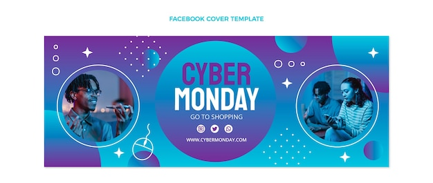 Gradient cyber monday facebook-cover