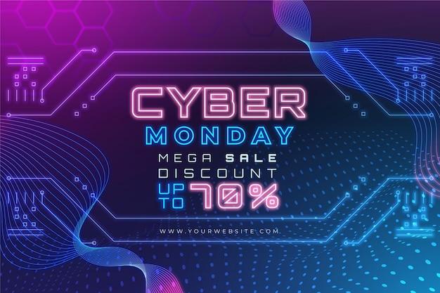 Gradient cyber monday verkaufsillustration