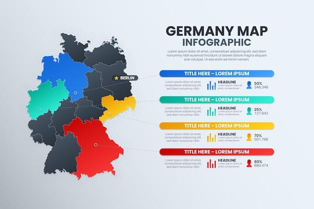 Gradient deutschland karte infografik