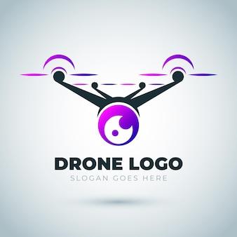 Gradient drohnen-logo-vorlage