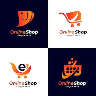 Gradient e-commerce-logo-sammlung