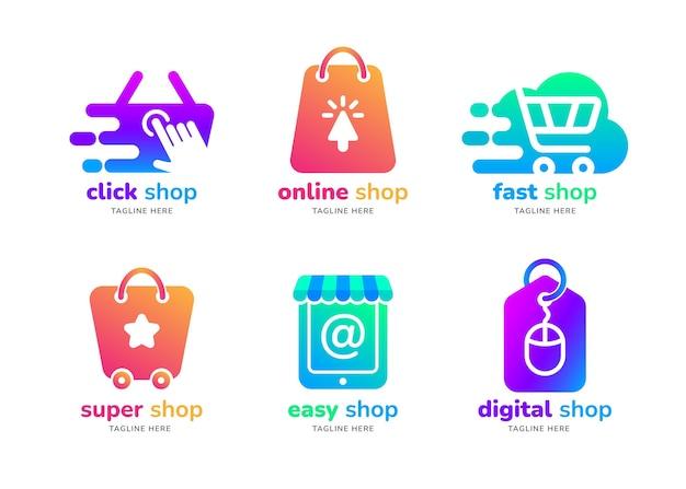 Gradient e-commerce-logopaket