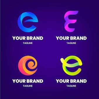 Gradient e logo-vorlagensatz