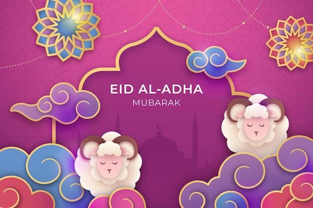 Gradient eid al-adha illustration