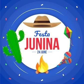 Gradient festa junina illustration