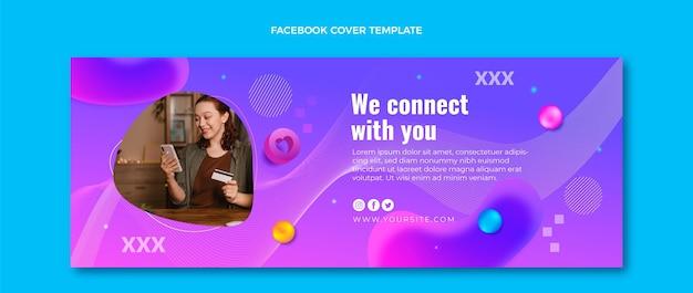 Gradient fluid technologie facebook-cover
