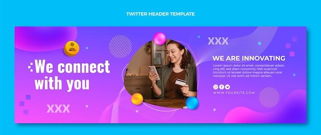 Gradient fluid technologie twitter-header