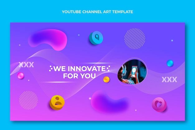 Gradient fluid technology youtube-kanalkunst