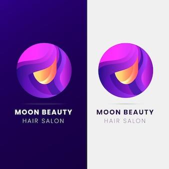 Gradient friseursalon logo vorlage