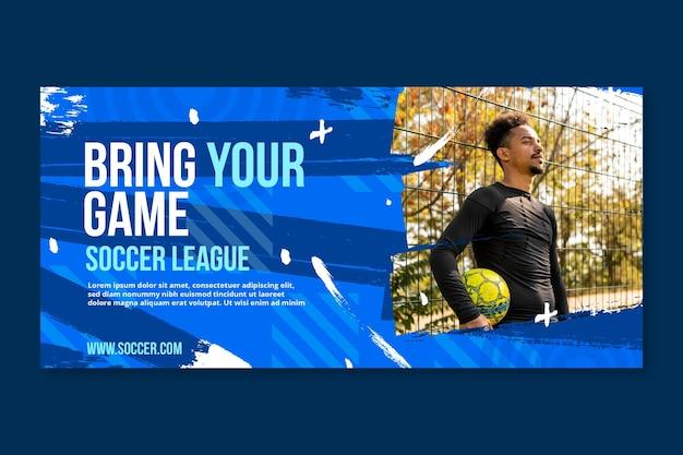Gradient fußball liga banner vorlage