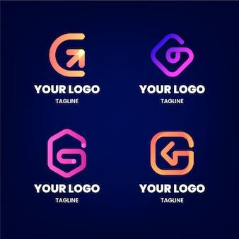 Gradient g brief logo sammlung