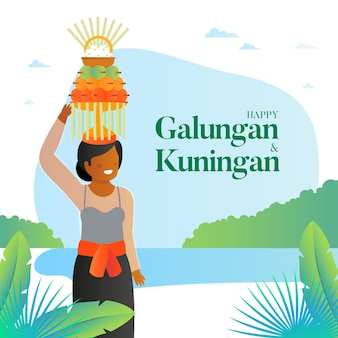 Gradient galungan illustration