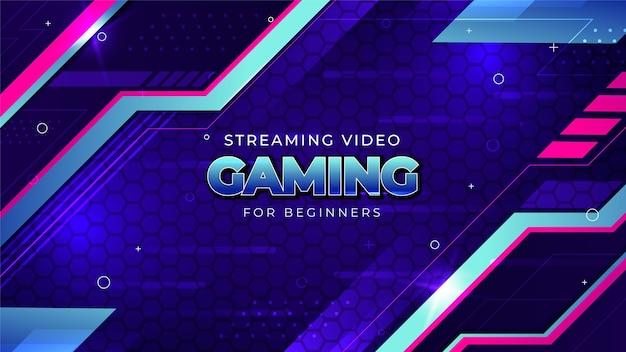 Gradient gaming youtube kanal kunst