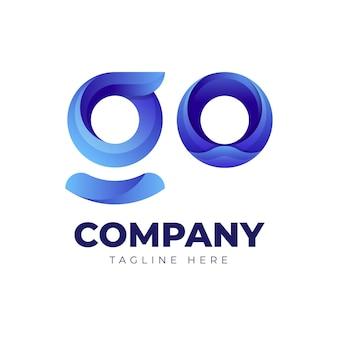 Gradient go-logo-vorlage