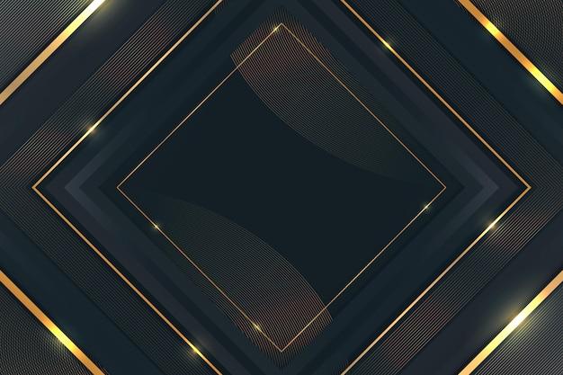 Gradient goldene details luxuriöser hintergrund