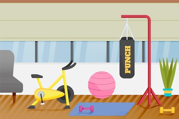 Gradient home gym illustriert