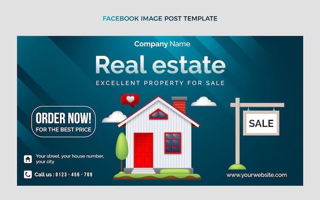 Gradient immobilien facebook-post