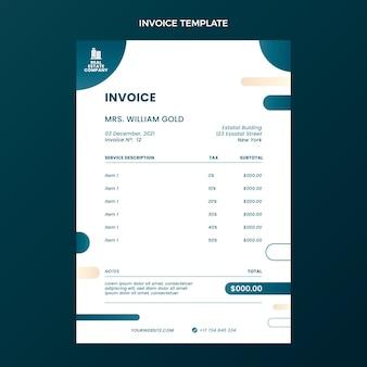 Gradient immobilienrechnungsvorlage