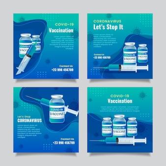 Gradient impfstoff instagram beiträge sammlung