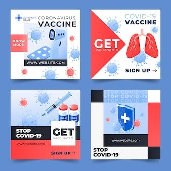 Gradient impfstoff instagram post sammlung