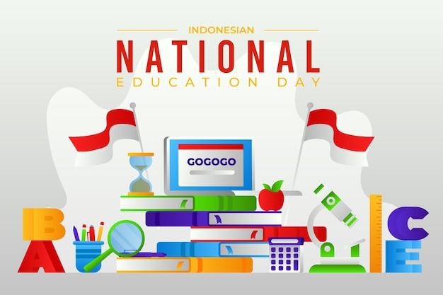 Gradient indonesische nationale bildungstagillustration