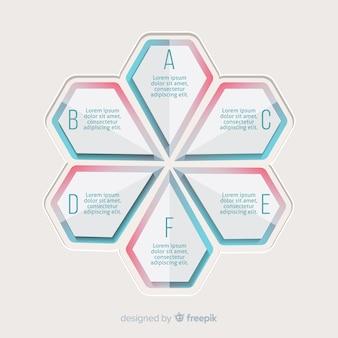 Gradient infografik schritte konzept