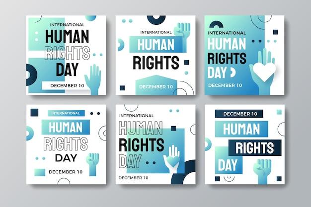 Gradient international human rights day instagram-posts-sammlung
