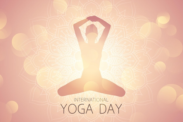 Gradient internationaler tag der yoga-illustration