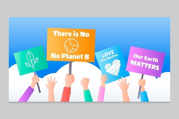 Gradient klimawandel facebook-post