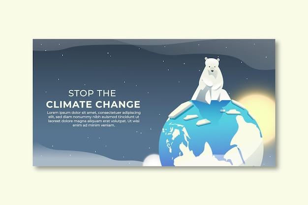 Gradient klimawandel social media beitragsvorlage