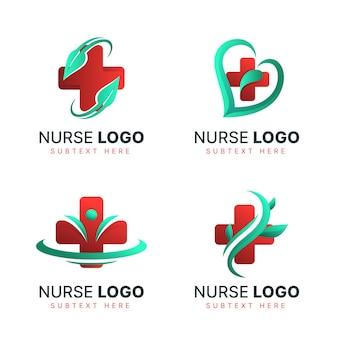 Gradient krankenschwester logo sammlung