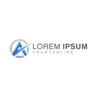 Gradient letter a logo