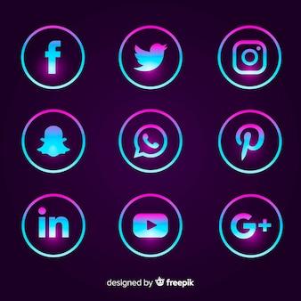 Gradient-logo für social media-logos