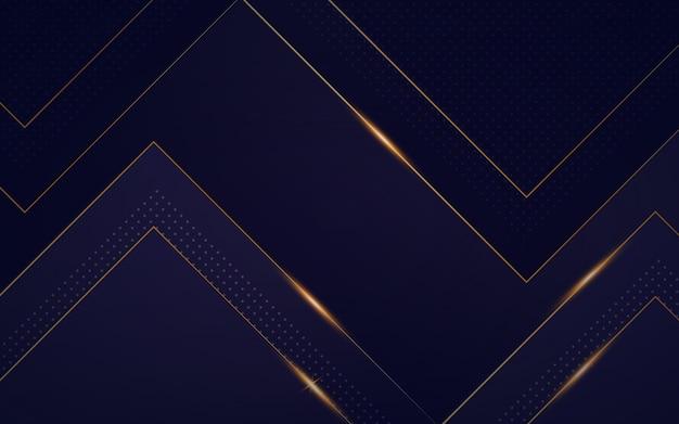Gradient luxus hintergrund mit goldenen details