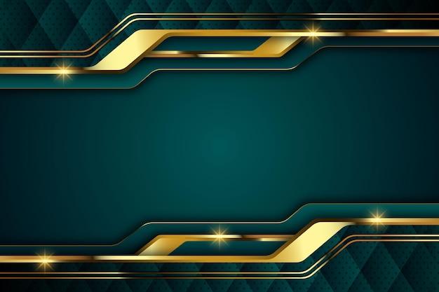 Gradient luxus-hintergrund mit goldenen elementen